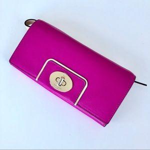 Kate Spade Fuchsia Leather Wrist Wallet